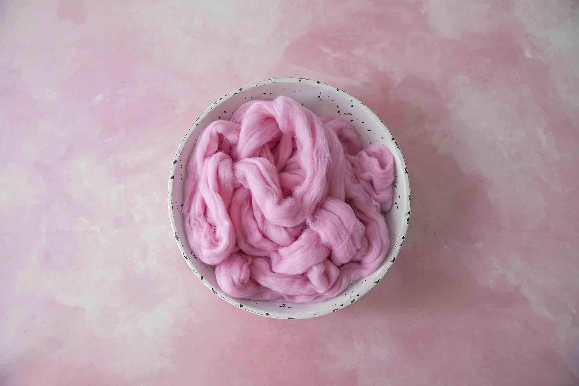 100% Merino Soft Watermelon Pink Roving Wool